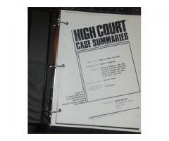 High Court Case Summaries